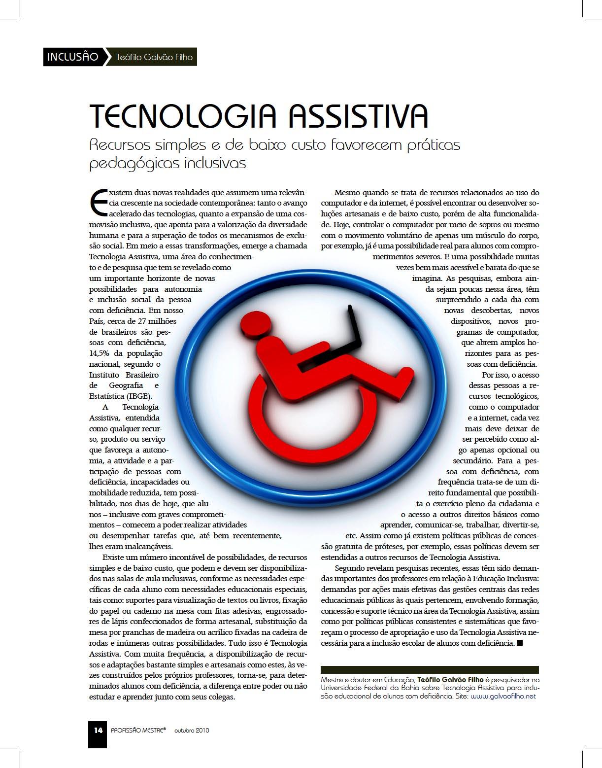 Imagem da página da revista com a matéria. Baixar o arquivo da matéria  no formato PDF no link abaixo.