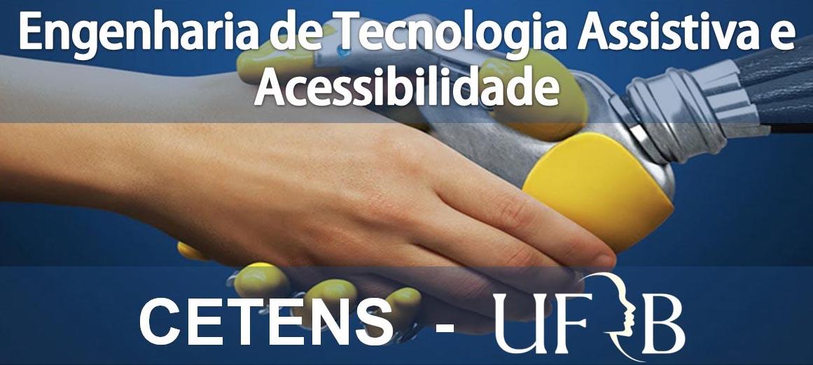 Imagem de uma mão robótica apertando uma mão humana, com o texto contendo o nome do curso e da instituição.