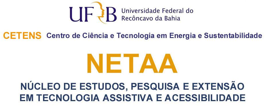 LOGO: Núcleo de Estudos, Pesquisa e Extensão em Tecnologia Assistiva e Acessibilidade - NETAA