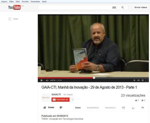"""Vídeo da """"Manhã de Inovação em Tecnologia Assistiva"""" do CNRTA. PARTE 1: clique para ver"""