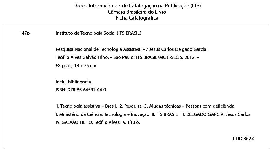 Ficha Catalográfica