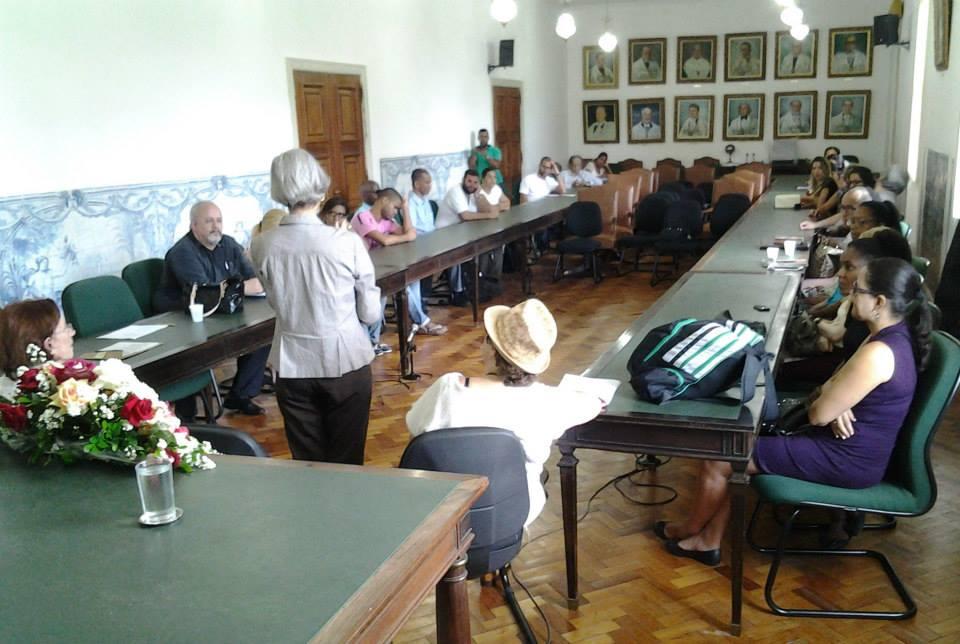 Sala dos Conselhos, na Reitoria da UFBA, durante o ato da entrega dos Tablets