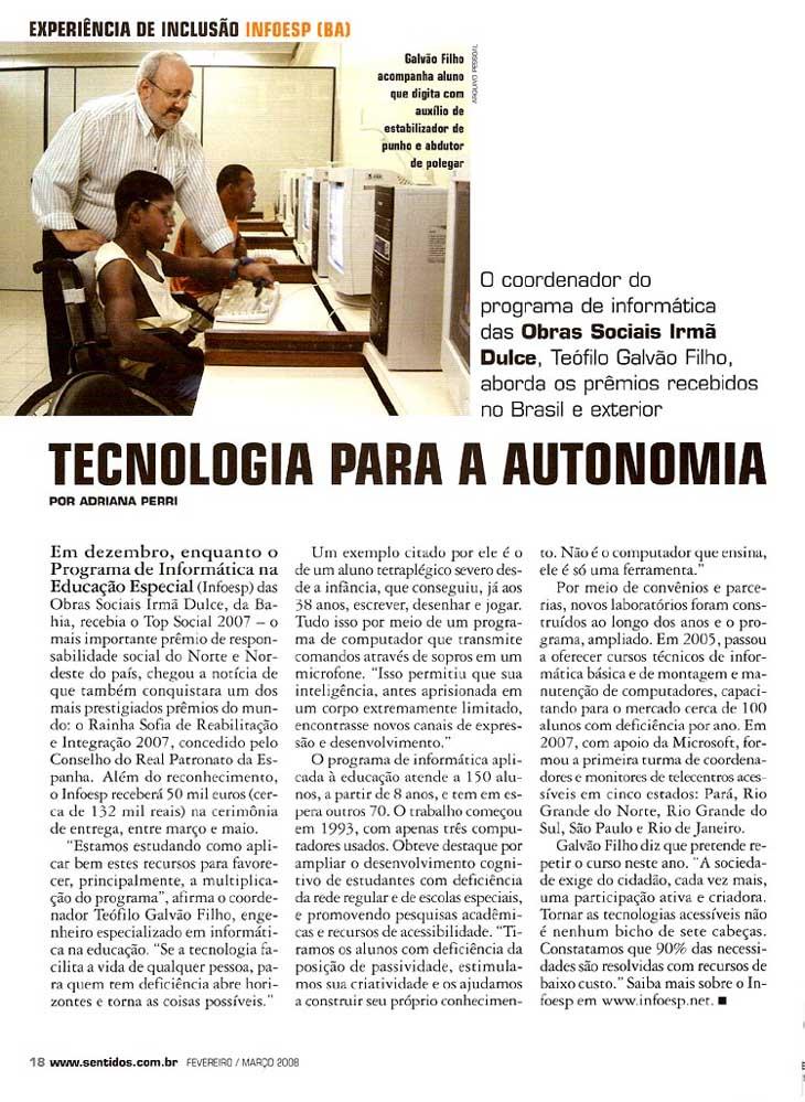 Imagem da página da revista com a matéria. Baixar o arquivo da matéria  no formato texto no link abaixo.